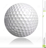 Funny Golf Ball Clipart Image