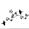 Birds In A Tree Clipart Image