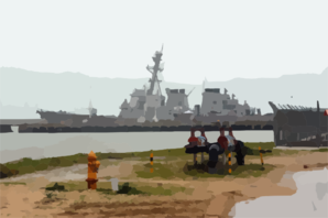 The U.s. Navy S Guided Missile Destroyer Uss Cole (ddg 67) Sits Moored At Pier 3 Naval Station Rota, Spain. Clip Art