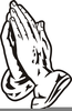 Praying Hands Black And White Clipart Image