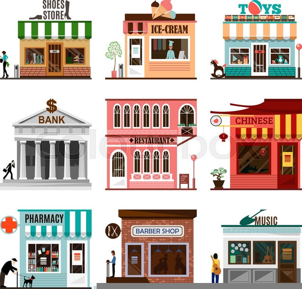 Free Clipart Of Storefronts Free Images At Clker Com
