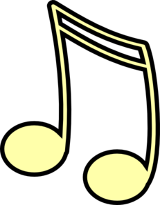 Yellow 16th Note Clip Art