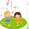 Children Singing Music Clipart Image