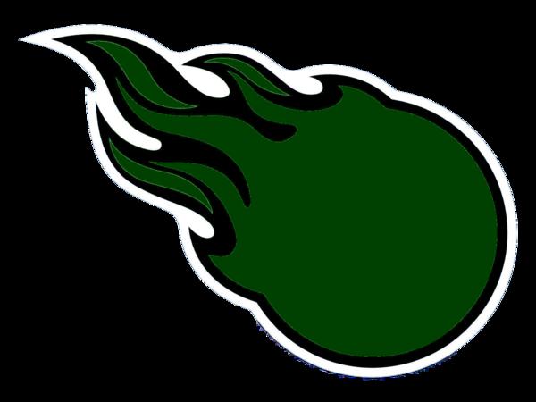 Green Comet Cartoon Comets logo green cut image