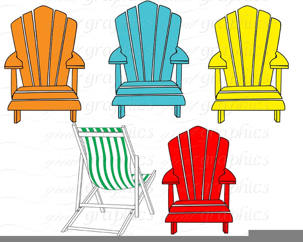 Beach Chair Clipart Black And White Free Images At Clkercom