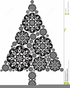 White Christmas Tree Clipart Image