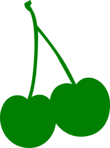 Green Cherry Clip Art
