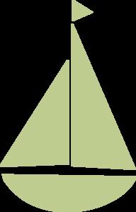 Green Sail Boat Clip Art at Clker.com - vector clip art ...