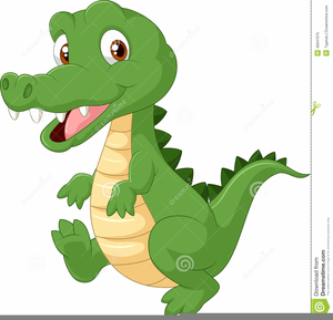 Baby Alligator Clipart Image