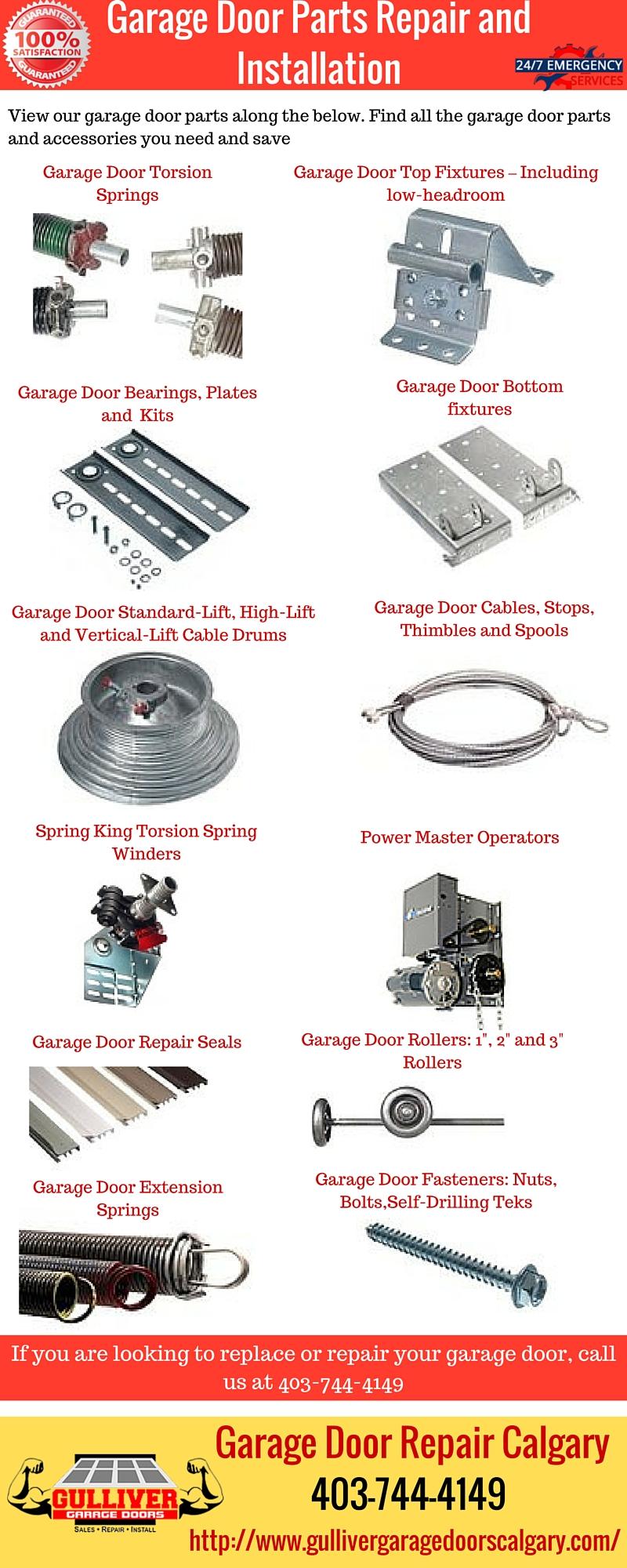 Parts Of A Door Installation : Garage door parts repair and installation gulliver