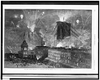 The Great Bridge - Fire-works And Illumination, From The Brooklyn Side  / Drawn By Charles Graham. Image