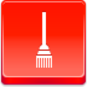 Free Red Button Icons Broom Image