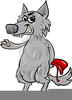 Red Riding Hood Wolf Clipart Image