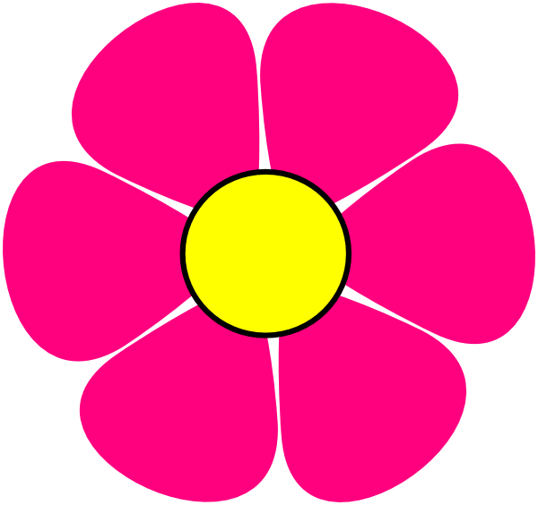 Pink and yellow flower clip art at clker vector clip art download this image as mightylinksfo