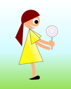 Girl With Lollipop Clip Art
