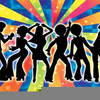 Groovy Girl Dancing Clipart Image