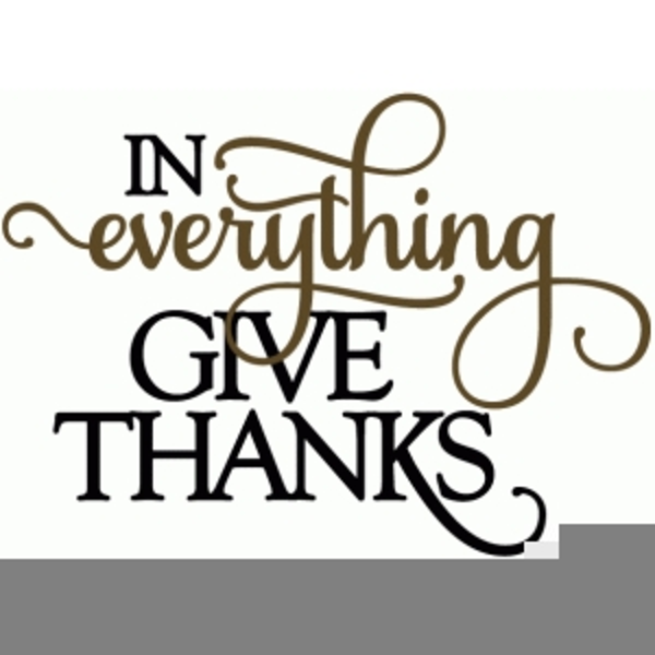 In All Things Give Thanks Clipart Free Images At Clker Com