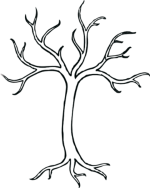 coloring bare tree md free images at vector