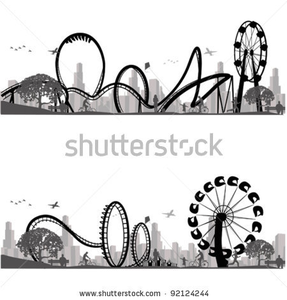 Stock Vector Vector Illustration Roller Coaster Silhouette Image