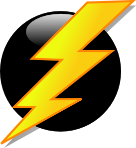 Lightning Icon Clip Art