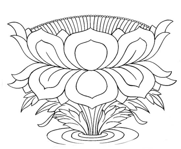 Line Drawing Lotus : Sacred lotus line art free images at clker vector