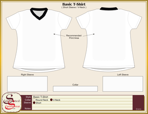 Basic T Shirt V Neck Image