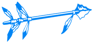 Blue Spear Cut Image