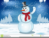 Snowman Scarf Clipart Image