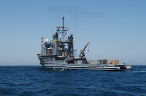 He Military Sealift Command Ship Usns Catawba (t-atf 168) Steams Through The Waters Of The Arabian Gulf Image