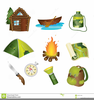Free Camping Cartoon Clipart Image