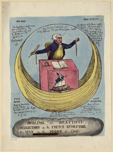 Sublime And Beautiful Reflections On The French Revolution, Or The Man In The Moon At Large Image