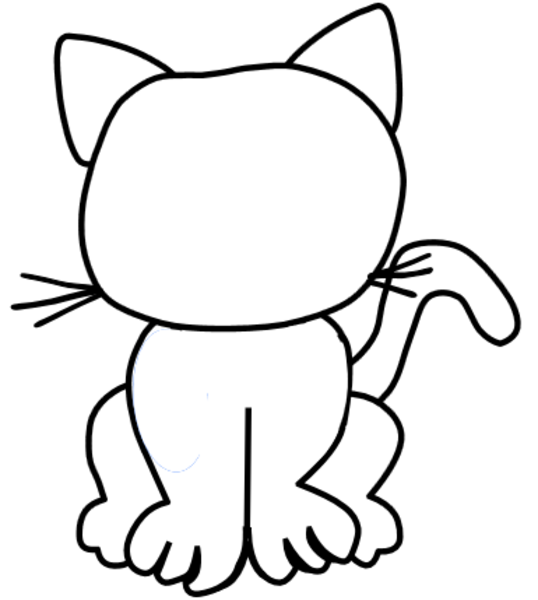Blank cat free images at vector clip art for Cat head coloring page