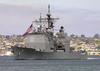 The Guided Missile Cruiser Uss Shiloh (cg 67) Makes Her Way Through The San Diego Bay To Naval Station San Diego Image