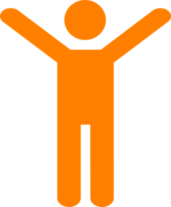 Orangeman Joy Simple Clip Art