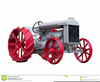 Free Antique Tractor Clipart Image
