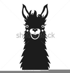 llama face silhouette free images at clker com vector llama clipart printable lama clip art