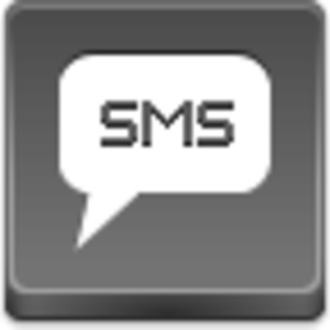 Free Grey Button Icons Sms Image