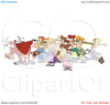 Eight Maids A Milking Clipart Image