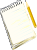 Notepad Pencil Clip Art
