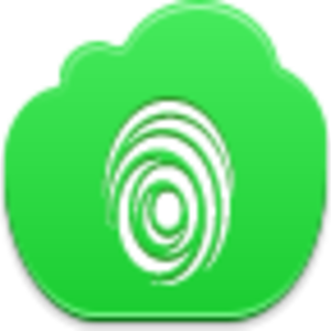 Free Green Cloud Finger Print Image