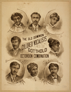 The Old Dominion Colored Vocalists With The Gotthold Octoroon Combination Image