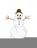 Clipart Melting Snowman Image