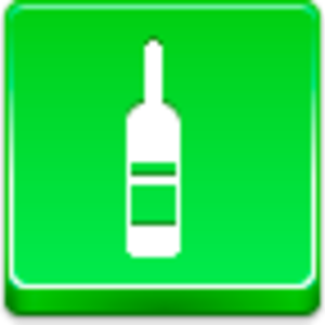 Free Green Button Wine Bottle Image