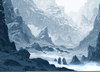 Snowy Mountains Painting Image