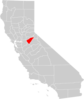 California County Map Calaveras County Highlighted Clip Art