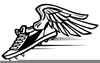 Running Spikes Clipart Image