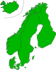 Map Of Scandinavia Clip Art