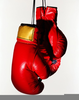 Hanging Boxing Gloves Image