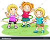Children Playing Games Clipart Image