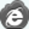 Free Grey Cloud Internet Explorer Image